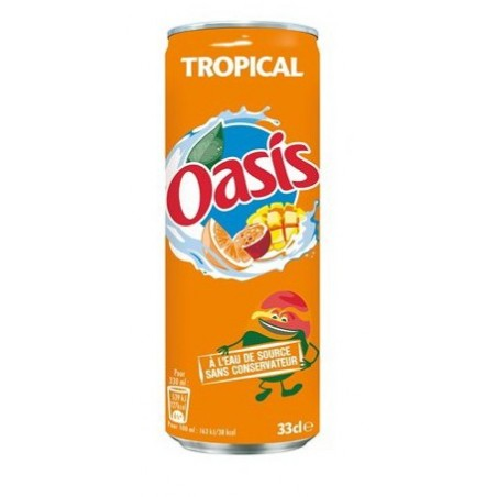 Canette Oasis Tropical 33cl